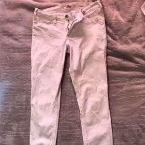 size 27; hollister white low rise super skinny